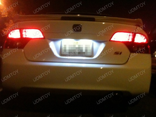 2008 Honda Civic Si Sedan License Plate LED Lights 2