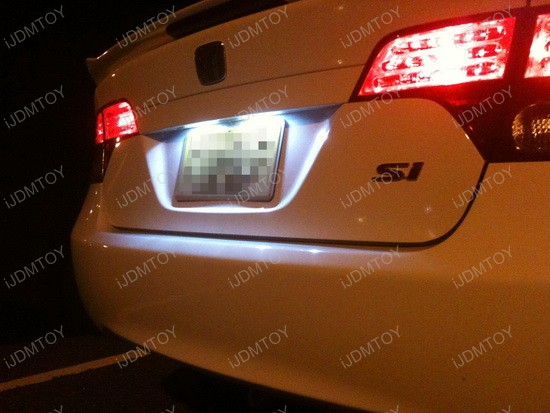 2008 Honda Civic Si Sedan License Plate LED Lights 3
