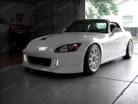 Honda S2000 LED DRL 1 s2000 daytime lights ijdmtoy blog for automotive lighting honda s2000 headlight fuse box location at mifinder.co