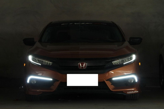 Install Honda Civic LED DRL 06