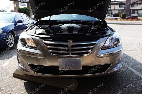 Hyundai Genesis Sedan High Beam H7 LED DRL 2