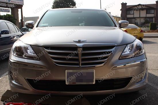 Hyundai Genesis Sedan High Beam H7 LED DRL 3