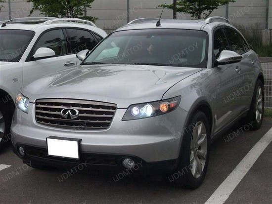Infiniti FX35 LED DRL T20 Driving Lights 3