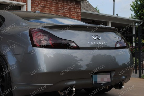 Infiniti G37 Black Tail Light Covers 2