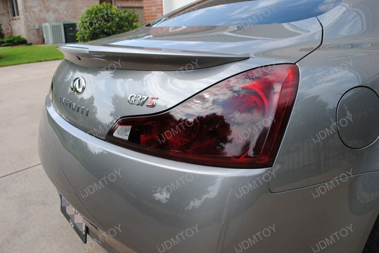 Infiniti G37 Black Tail Light Covers 3