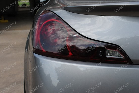 Infiniti G37 Black Tail Light Covers 4
