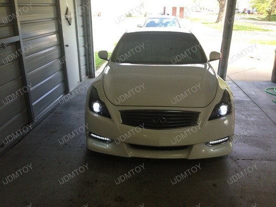 Infiniti G37 Bumper LED Daytime DRL Lights 4