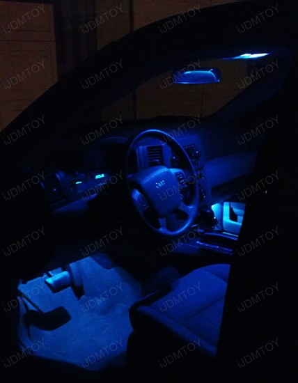 Jeep Grand Cherokee Blue LED Interior Lights 1