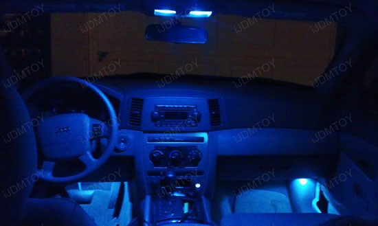 Jeep Grand Cherokee Blue Led Interior Lights 2