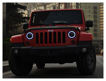 Jeep Wrangler OEM Fit LED Headlight Assembly (For 70-202 70-203)