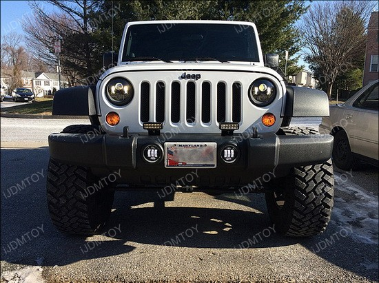 jeep wrangler led headlights and fog lights ijdmtoy blog for. Cars Review. Best American Auto & Cars Review
