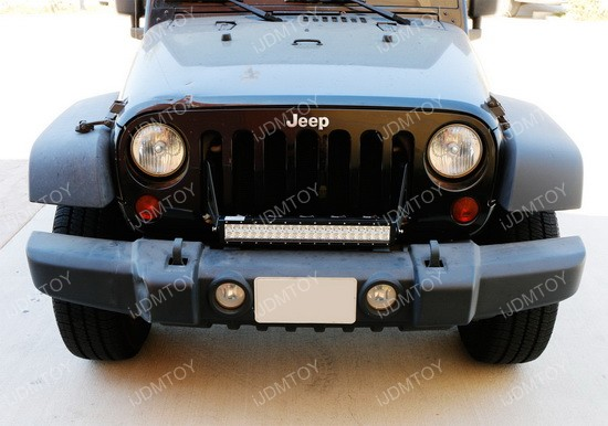 Jeep Wrangle -Front Grille LED Light Bar 17