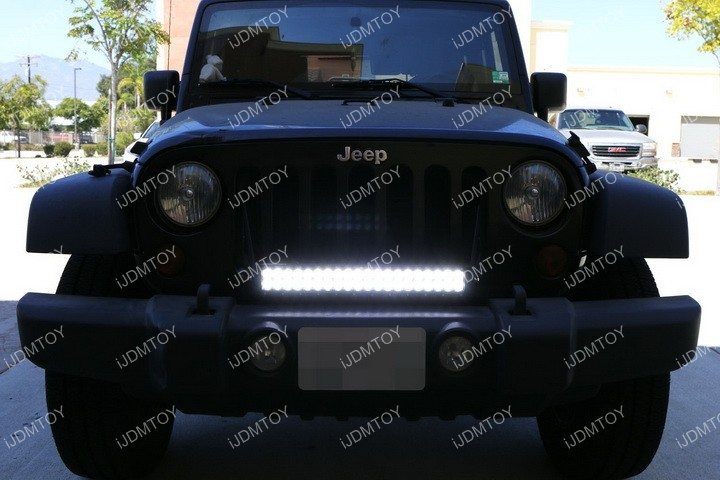 Jeep Wrangler LED Light Bar Install 12