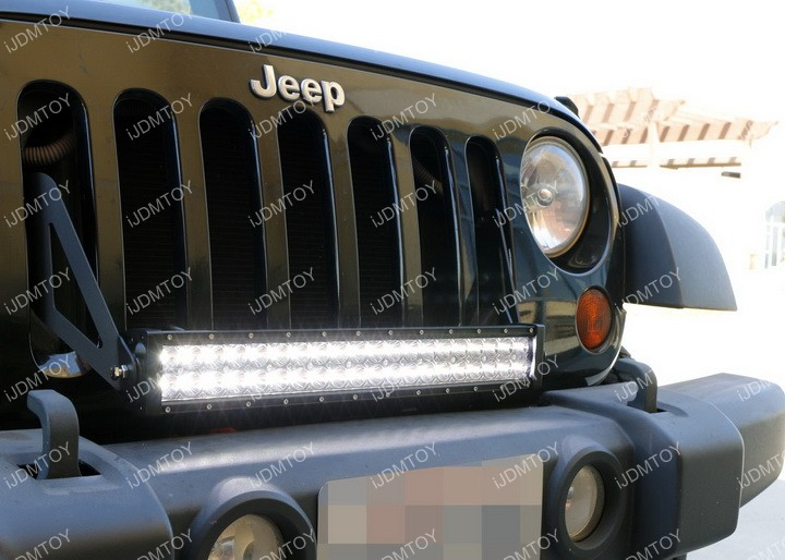 Jeep Wrangler LED Light Bar Install 13