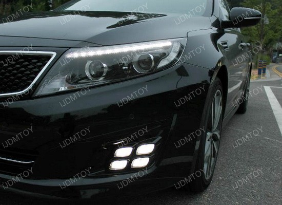 Kia Optima LED DRL quad 04