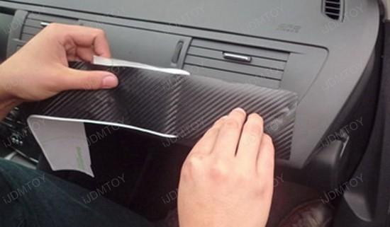 how to apply carbon fiber sheet for car interior wrap. Black Bedroom Furniture Sets. Home Design Ideas