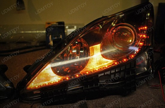 Lexus IS250 Switchback LED Strips 4