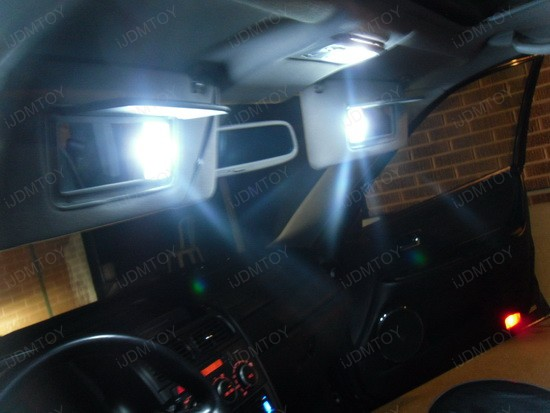Sun Visor LED Vanity Mirror Lights Installed on Lexus IS300 iJDMTOY Blog For Automotive Lighting