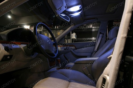 Mercedes S500 LED Interior Lights 2