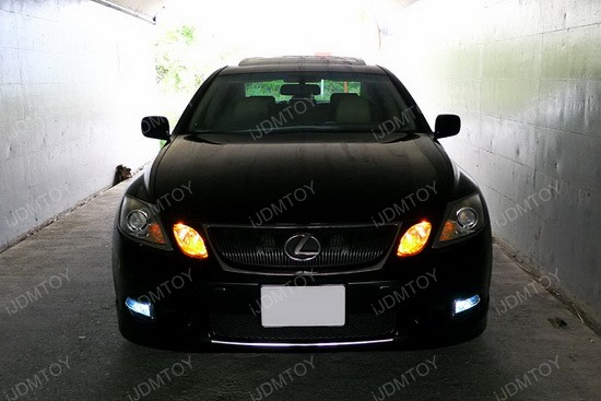Lexus GS350 Golden Yellow 9005 LED DRL Bulbs 1
