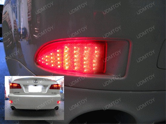 Lexus IS250 IS350 LED Bumper Reflector Lights 1