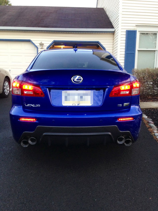 Lexus LED Rear Bumper Reflector Lights 04
