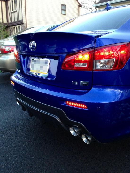Lexus LED Rear Bumper Reflector Lights 06
