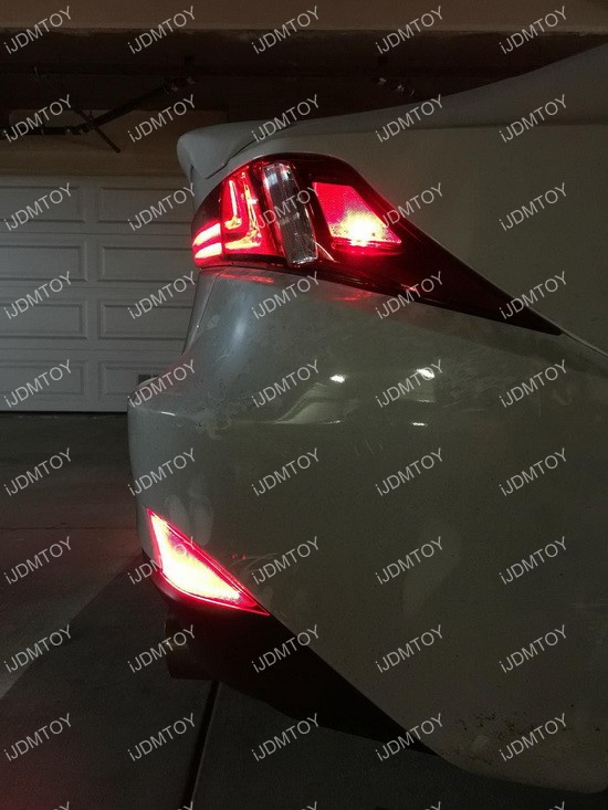 Lexus IS LED Bumper Reflector Installation 14