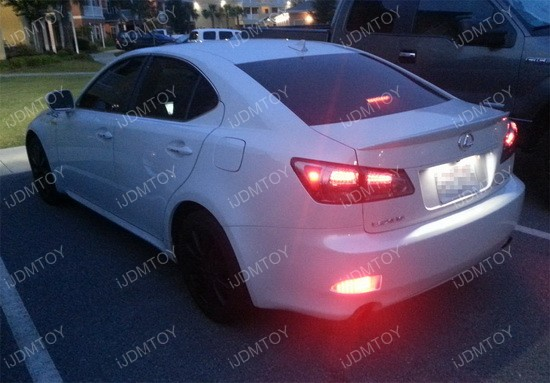 Lexus IS250 IS350 LED Bumper Reflector 01