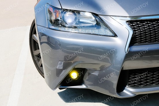 Lexus GS F-Sport Yellow LED Fog Light Kit 01