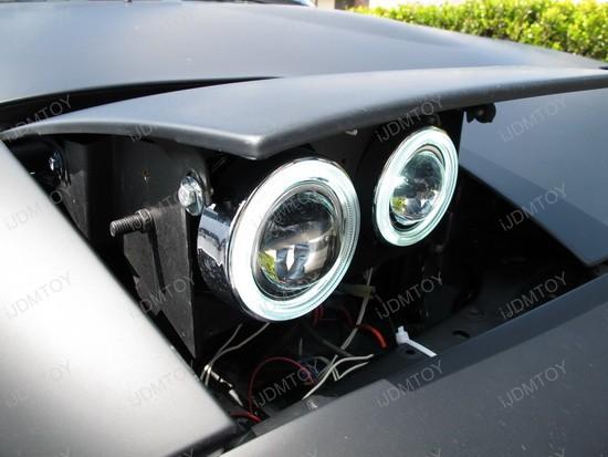 Mazda Miata Angel Eye Projector Fog Lights on 1990 Mazda Miata Headlights