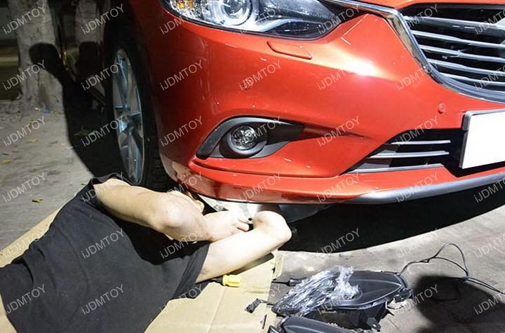 Install-Mazda6-LED-Daytime-Running-Light 01