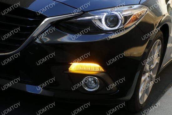Mazda 3 LED DRL turn signal Installation 14