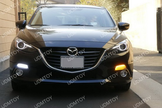 Mazda 3 LED DRL turn signal Installation 15