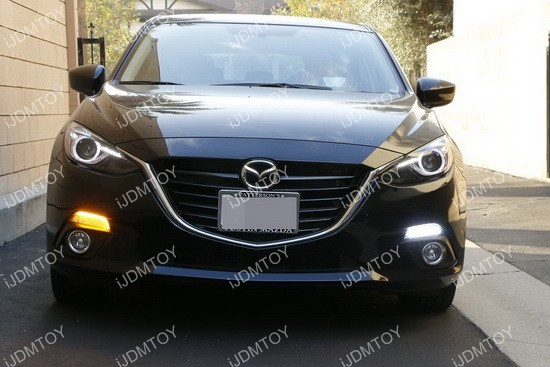 Mazda 3 LED DRL turn signal Installation 16