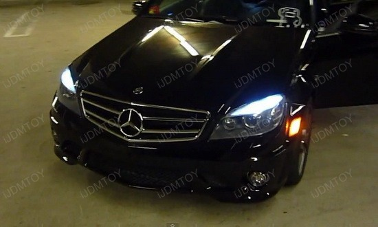 Mercedes Benz C63 AMG LED Eyelid Lights 1