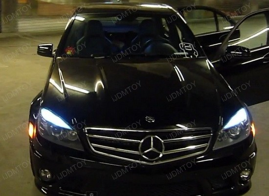 Mercedes Benz C63 AMG LED Eyelid Lights 2
