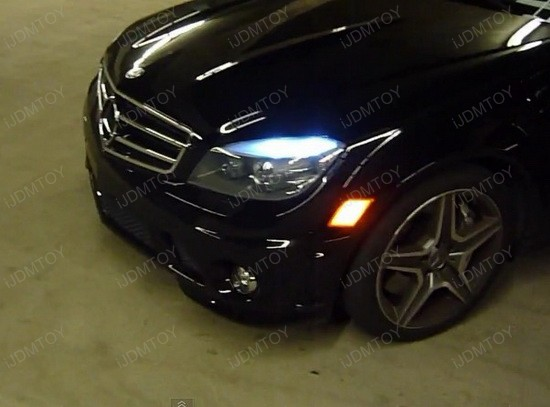 Mercedes Benz C63 AMG LED Eyelid Lights 3