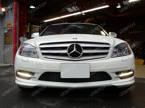 Mercedes Benz CClass Install LED DRL 01