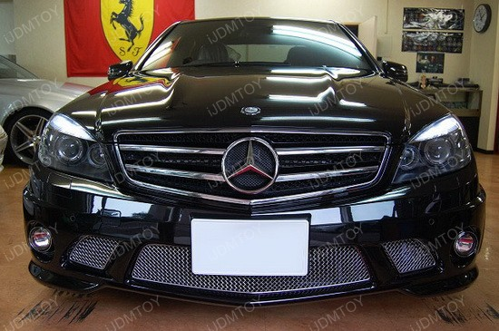 Mercedes W204 C63 AMG Error Free LED Eyelid Lights 1