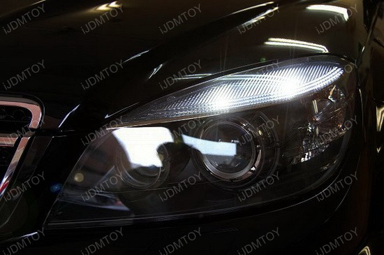 Mercedes W204 C63 AMG Error Free LED Eyelid Lights 2