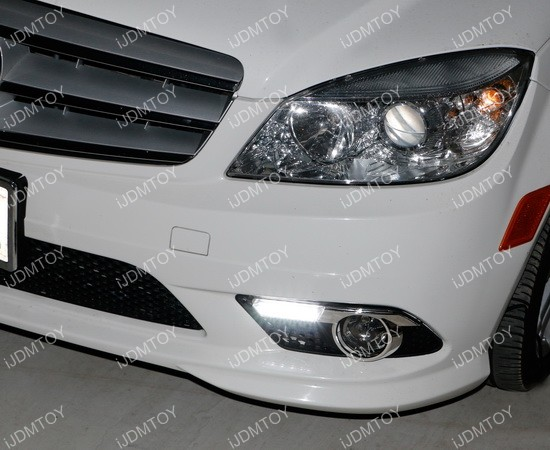 Mercedes Benz C Class LED Daytime Running Lights 04