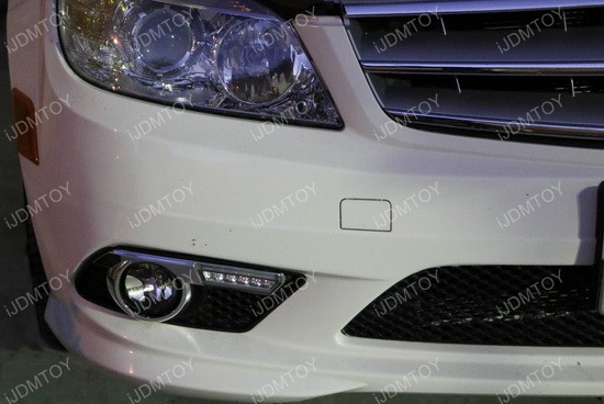 Mercedes C Class LED Daytime Running Light Installation 04
