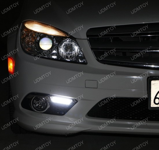 Mercedes C Class LED Daytime Running Light Installation 06