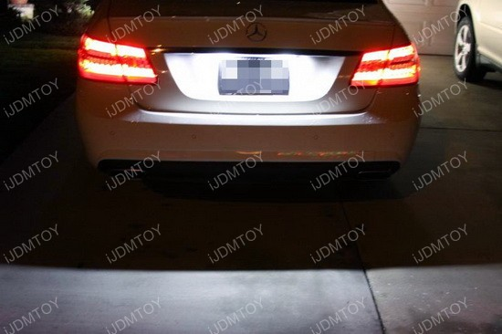 Mercedes E Class LED License Plate Lights 01