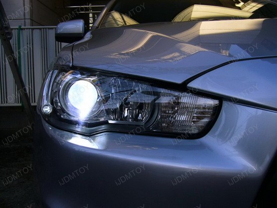 Fancy 2009 Mitsubishi Evo X With Super Cool D2s Hid Bulbs