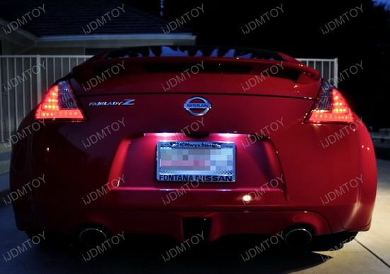 Nissan 370Z License 168 LED Bulbs 1