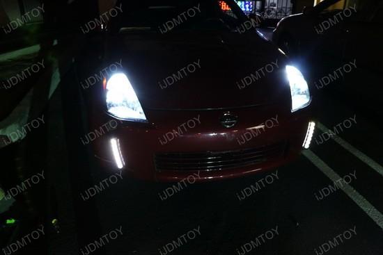 Nissan 350Z Bumper Reflector LED DRL 4