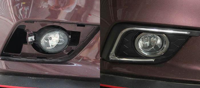 Install Nissan Sentra LED DRL 01