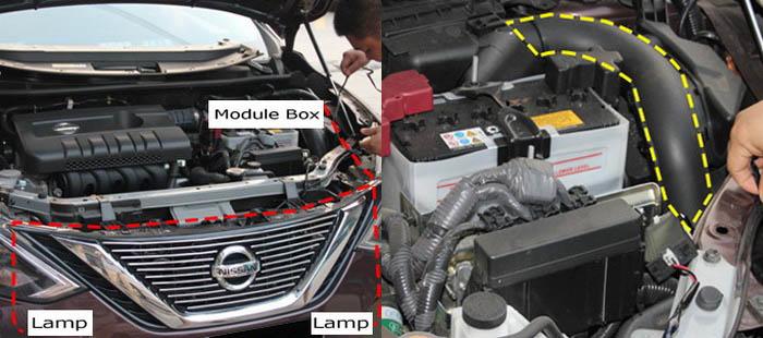 Install Nissan Sentra LED DRL 03